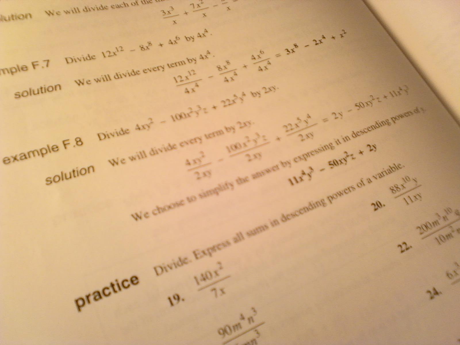 High school algebra homework help
