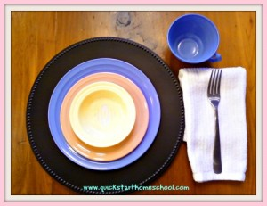 article place setting