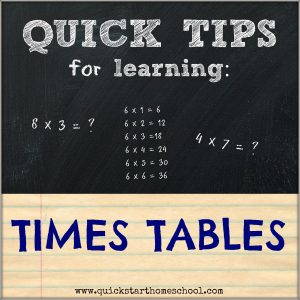 {Quick Tips: Times tables}