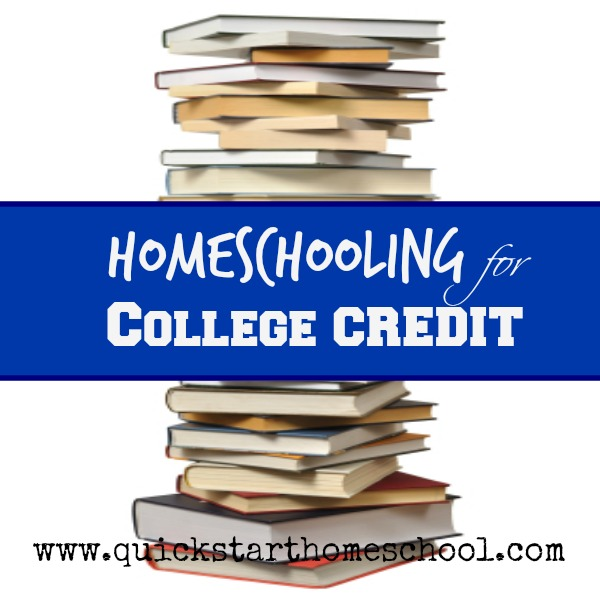 Earning College Credit (while homeschooling)