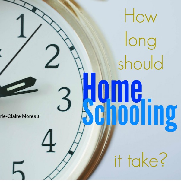 Homechooling: How long should it take?